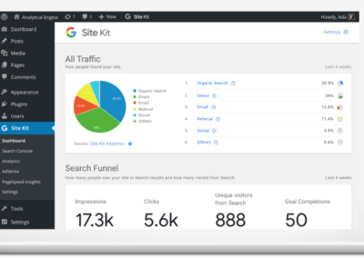 Google Site Kit Dashboard