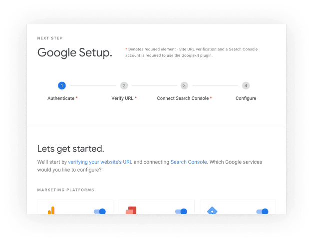 Google Site Kit Setup